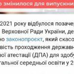 Зміни щодо проходження ДПА-2021